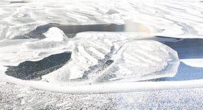 Rio gelado imagem de stock
