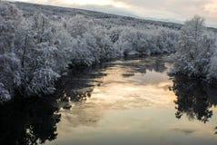 Rio gelado Imagens de Stock