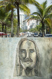 Rio Graffiti Drawing of Cristo Redentor Ipanema Stock Photography