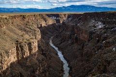 Rio grand gorge bridge taos new mexico stock photo