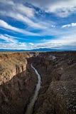 Rio grand gorge bridge taos new mexico royalty free stock photos