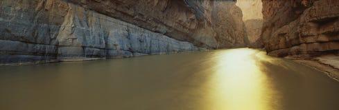 Rio Grande河、得克萨斯或者墨西哥边界 免版税库存照片