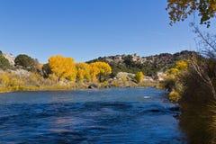 Rio Grande河在秋天 免版税图库摄影