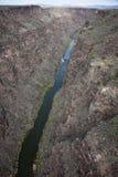 Rio Grande. Seen from the  Gorge Bridge Stock Photos