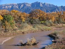 Rio Grande. River, near Sandia Peak, New Mexico, USA Stock Images