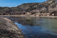 Rio Grande abaixo da represa do montículo do elefante fotografia de stock royalty free
