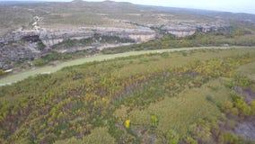 Rio Grande aerial drone video stock video footage