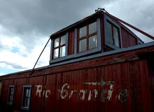 Rio Grande Antique Train Car Arkivfoton