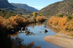 Rio Grande Del Norte Krajowy zabytek, Nowy - Mexico Zdjęcie Stock
