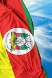 Rio Grande do Sul, Brazil waving flag on a beautiful day Stock Image