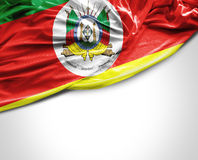 Rio Grande do Sul, Brazil waving flag on white background Royalty Free Stock Photos