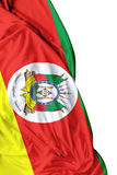 Rio Grande do Sul, Brazil waving flag on white background Royalty Free Stock Images