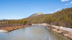 Rio grande em Noruega imagens de stock