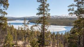 Rio grande em Noruega fotos de stock royalty free