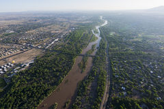 Rio Grande en Albuquerque, New México Imágenes de archivo libres de regalías