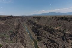 Rio Grande Gorge landscape in New Mexico. royalty free stock photography