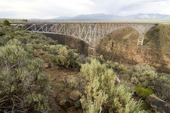Rio Grande Gorge Bridge. Taos, New Mexico Royalty Free Stock Photo