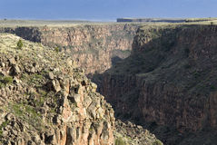 Rio Grande from Gorge Bridge. Rio Grande landscape taken from Gorge Bridge , taos, New Mexico royalty free stock photos