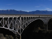 Rio Grande Gorge Bridge. Mountains and Rio Grande Gorge Bridge Royalty Free Stock Images