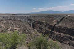 The Rio Grande gorge bridge. stock images