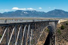 Rio Grande Gorge Bridge, near Taos, New Mexico royalty free stock photo