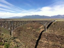Rio Grande Gorge Bridge royalty free stock photos