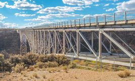 Rio Grande Gorge-brug in New Mexico stock afbeeldingen