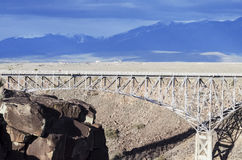 The Rio Grande gorge, New Mexico Stock Images