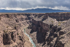Rio Grande Gorge, New Mexico Royalty Free Stock Photo