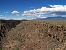 Rio Grande Gorge. The Rio Grande Gorge in northern New Mexico where the watercourse of the Rio Grande follows a tectonic chasm. At a depth of 800 feet, the gorge Stock Photography