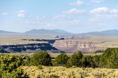 Rio Grande Gorge, Rio Grande del Norte National Monument. The Rio Grande gorge, part of the Rio Grande del Norte National Monument, cuts through the Taos plateau Royalty Free Stock Photos