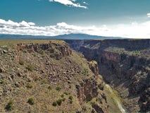 Rio Grande Gorge. The Rio Grande Gorge in northern New Mexico where the watercourse of the Rio Grande follows a tectonic chasm. At a depth of 800 feet, the gorge Stock Photos