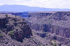 Rio Grande Gorge at Taos, New Mexico stock images