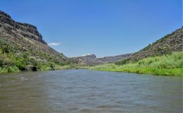 Rio Grande im Nordnew mexico stockfoto