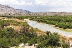 Rio Grande natural border, Texas Stock Images