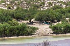 Rio Grande natural border, Texas Royalty Free Stock Photography