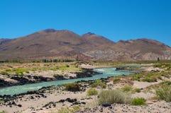 Rio Grande, Neuquen, Argentinië Stock Fotografie