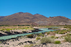 Rio Grande, Neuquen, la Argentina fotografía de archivo
