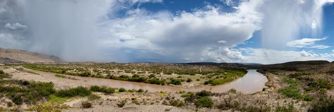 Rio Grande Panoramic Royalty Free Stock Photography