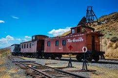 Rio Grande Railroad - colline d'or - Boulder, Co photographie stock libre de droits
