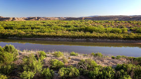 Rio Grande river in Big Bend National Park Texas Stock Images