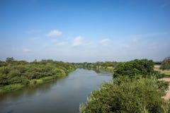 Rio Grande river Texas Mexico border. Rio Grande river on the border between United States and Mexico in Texas stock images