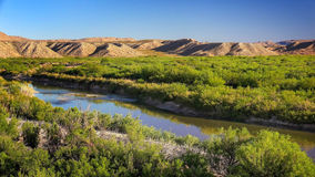 Rio Grande River en parc national de grande courbure Photographie stock libre de droits
