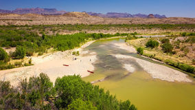 Rio Grande River am große Biegungs-Nationalpark Lizenzfreie Stockbilder