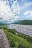 Rio Grande River i Jujuy, Argentina Fotografering för Bildbyråer
