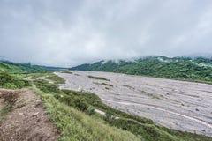 Rio Grande River i Jujuy, Argentina Arkivbild