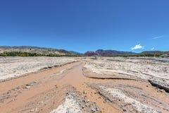 Rio Grande river in Jujuy, Argentina. Royalty Free Stock Image