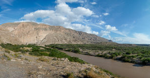 Rio Grande River on Mexican border Royalty Free Stock Images