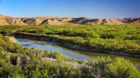 Rio Grande River nel grande parco nazionale della curvatura Fotografia Stock Libera da Diritti
