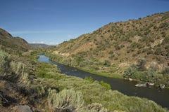 Rio Grande River in New Mexico stock photo